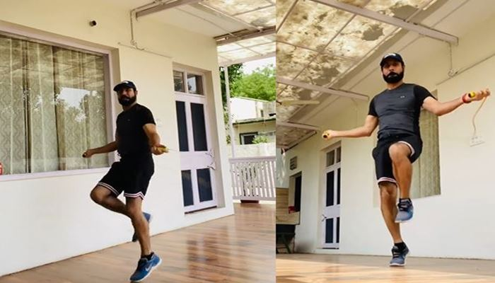 binnu dhillon shared his work out video with fans