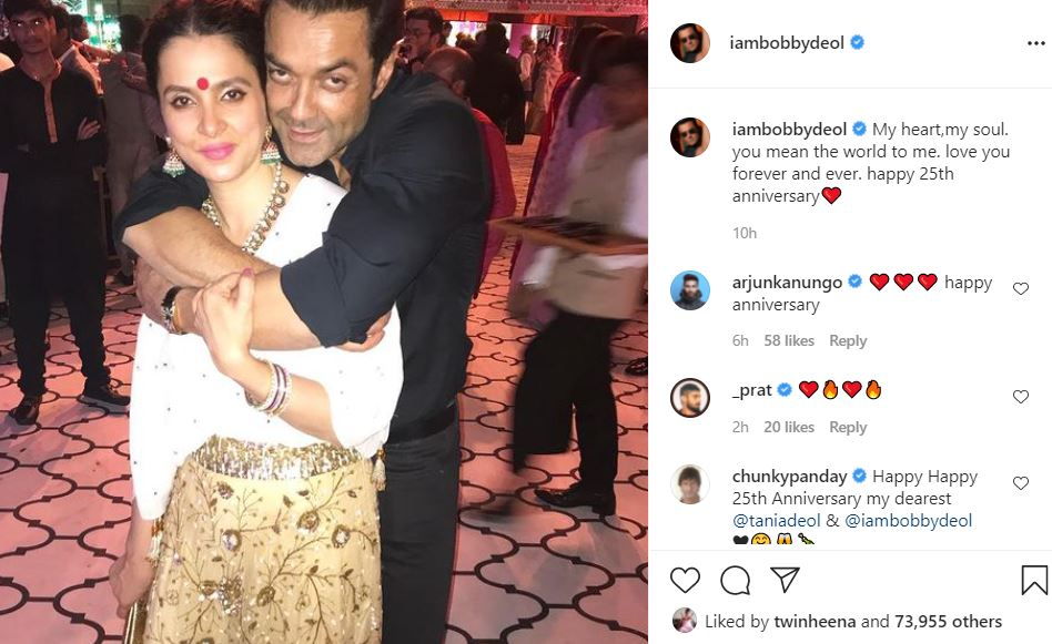 bollywood actor bobby deol shared unseen pics of his wife
