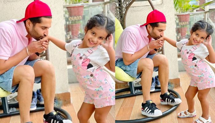 image of jassie gill cute pic with rojas kaur gill