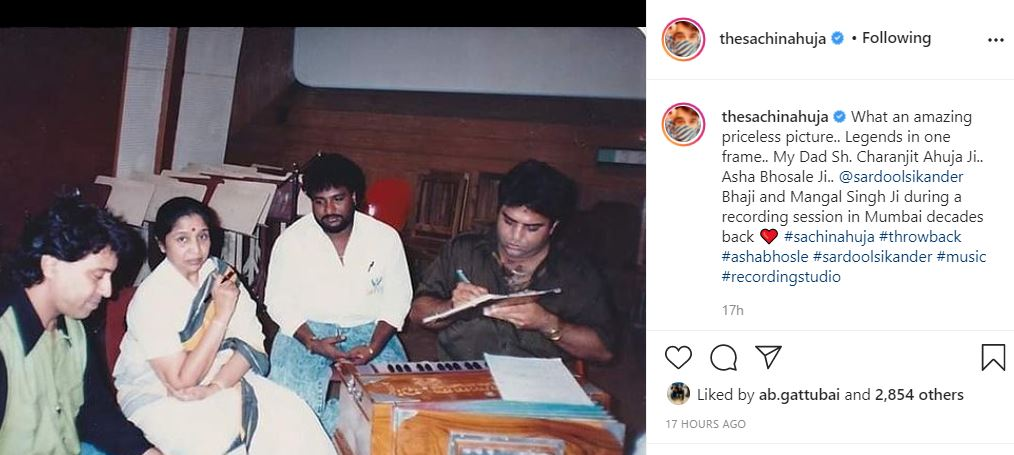 image of sachin ahuja posted old pic with caption