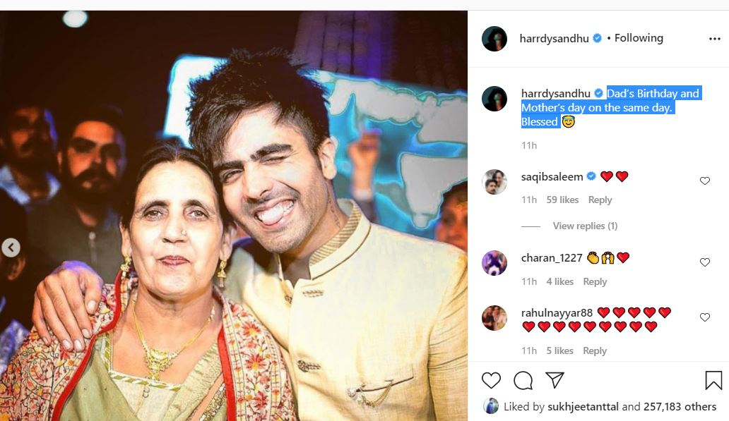 inside image of harrdy sandhu with his mother