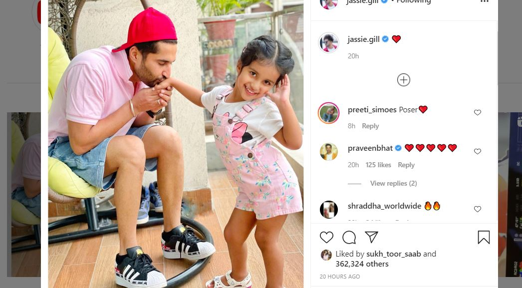 jassie gill image with daughter rojas kaur gill