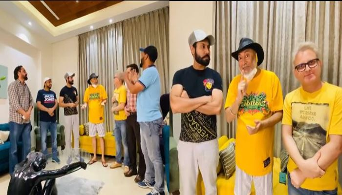 jaswinder bhalla made funny video with binnu dhillon, karmjit anmol and many other artist