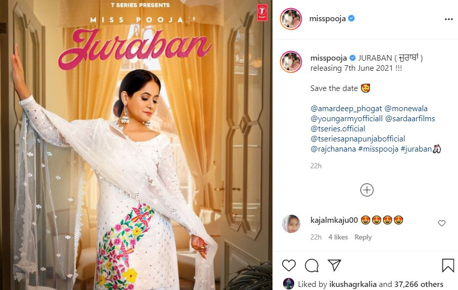 miss pooja shared new image of juraban poster with fans