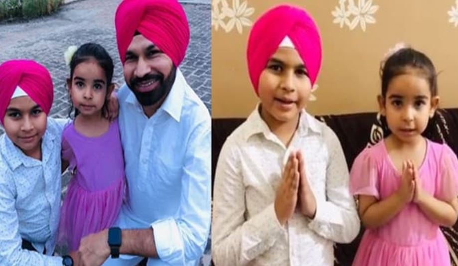 punjabi actor harby sangha with his kids