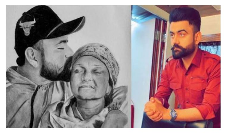 punjabi singer amrit maan with his late mother