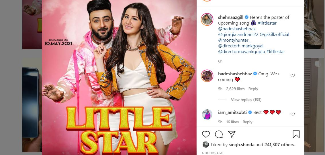 shehnaaz gill shared his brother poster little star