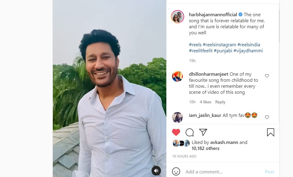 singer harbhjan mann shared his song male video with fans