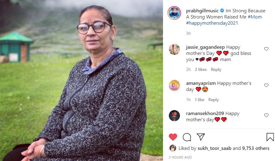 singer prabh gill post of mother