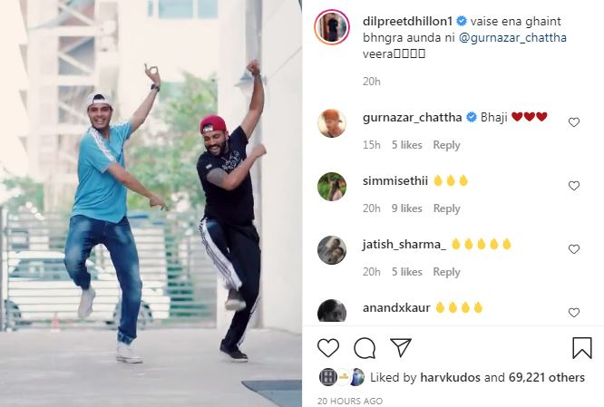 SINGER DILPREET DHILLON SHARED NEW BHANGRA VIDEO WITH FAN