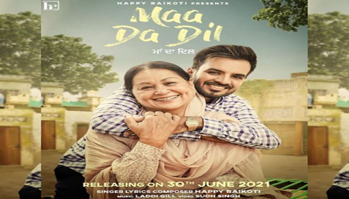 happy raikoti shared new song poster maa da dil with fans