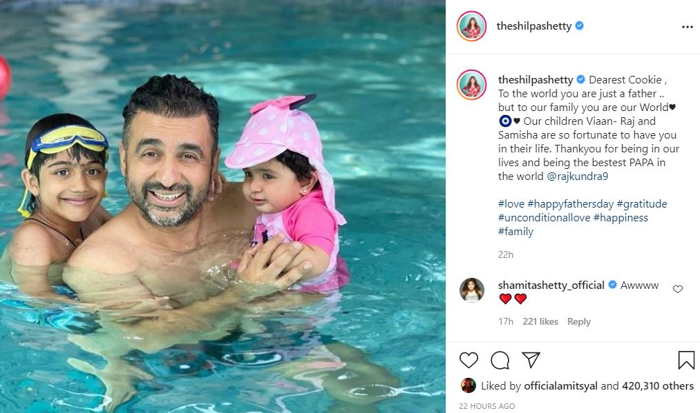 inside image of shilpa shetty kundra shared special picture with fans