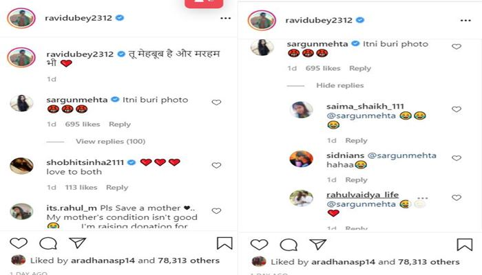 ravi dubey comments on post