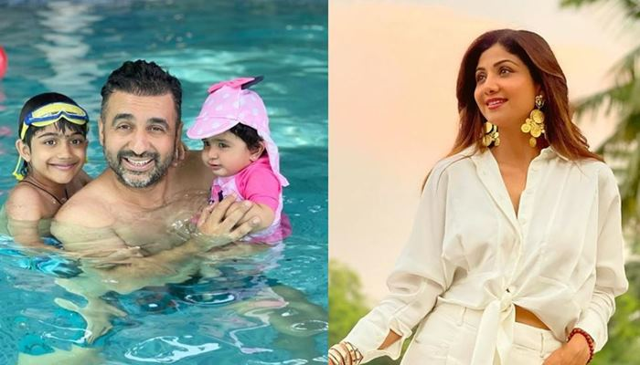 shilpa shetty kundra shared cute image of her family on father's day
