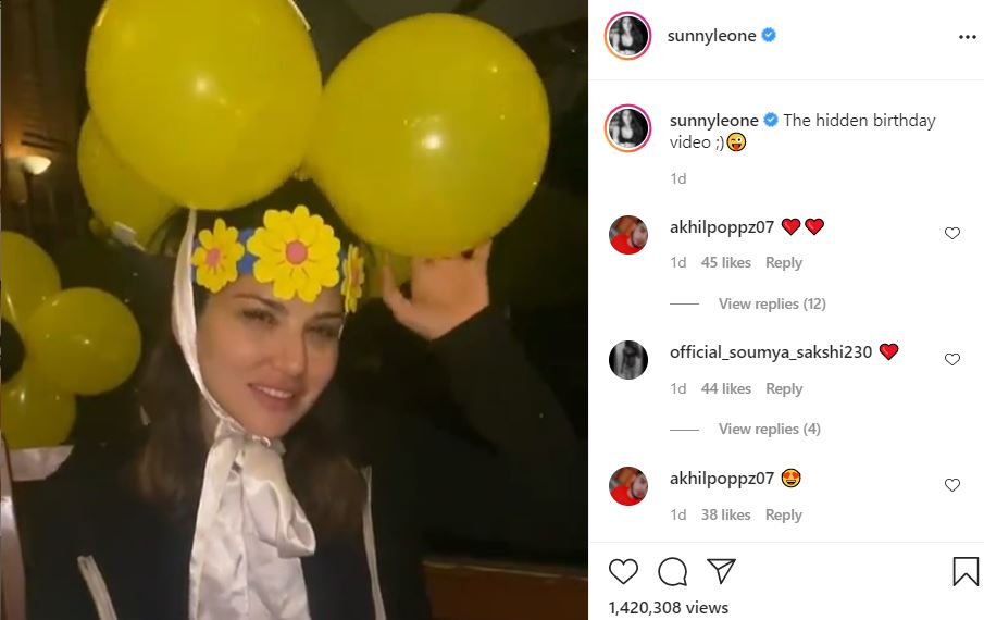 sunny leone shared her birthday hidden video with fans'