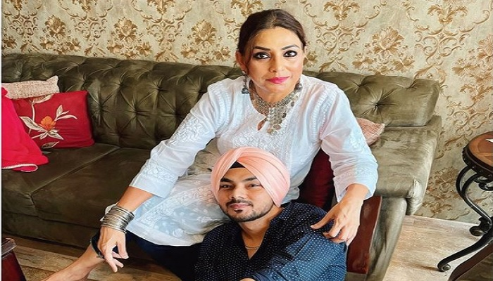 Gurdeep with mother