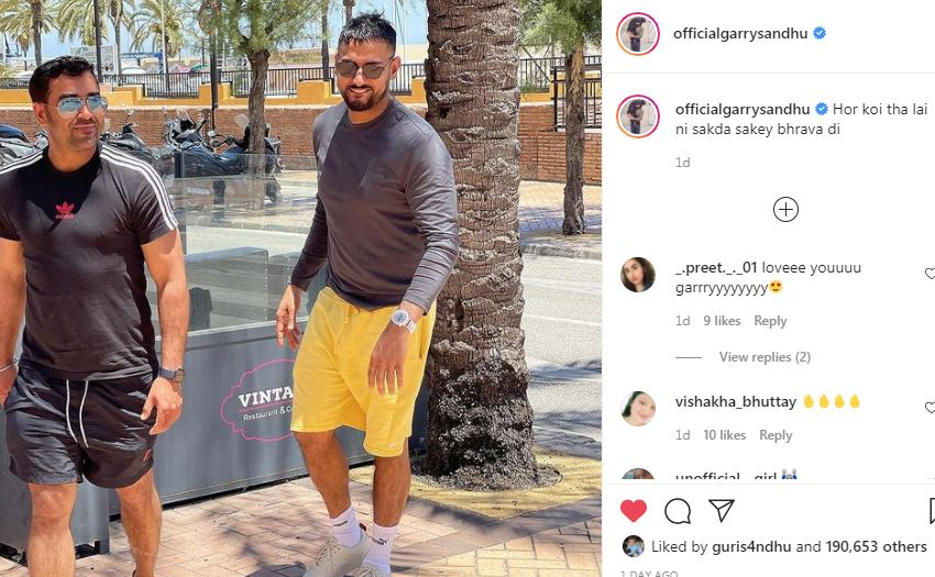 inside image of garry sandhu with brother