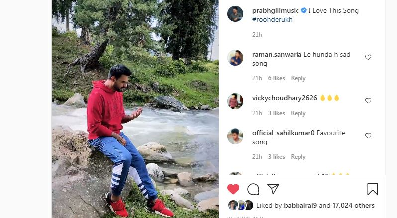 inside image of prabh gill shared his cute video with fans