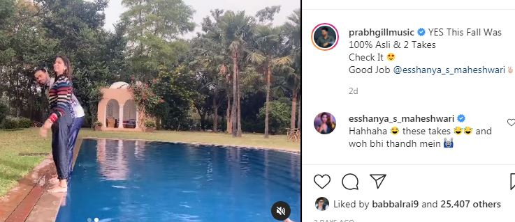 inside image of prabh gill shared video