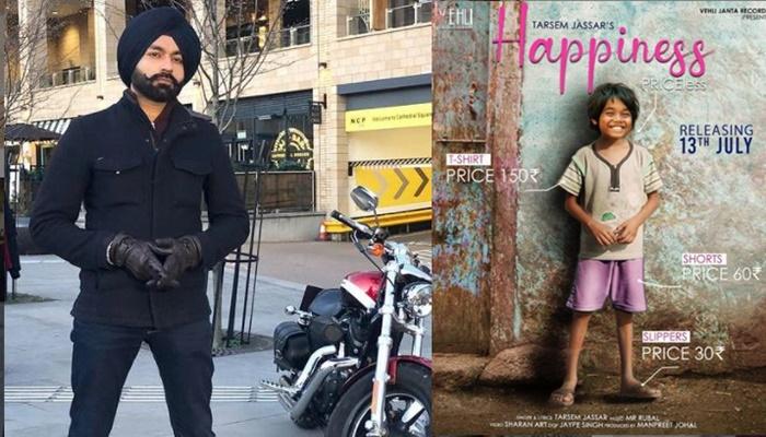 singer tarsem jassar shared his new song happiness poster with fans