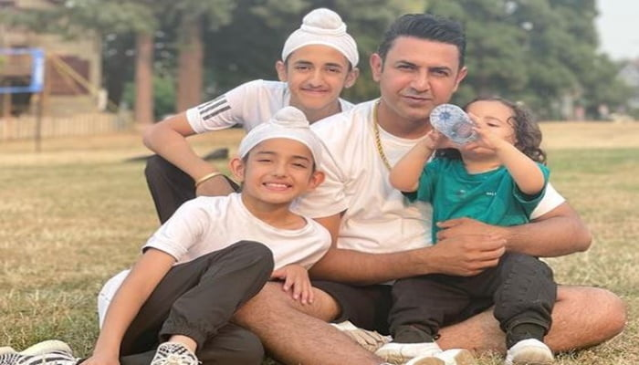 feature image of gippy grewal with son-min