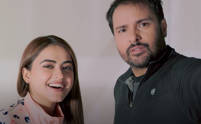 insdie image of simi chahal and amrinder gill
