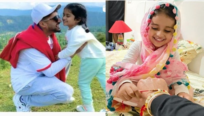 singer jassie gill with his daughter rojas kaur gill-min