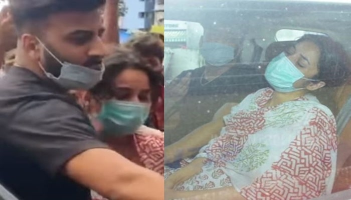 Shehnaaz Gill looks inconsolable at Sidharth Shukla's funeral-min