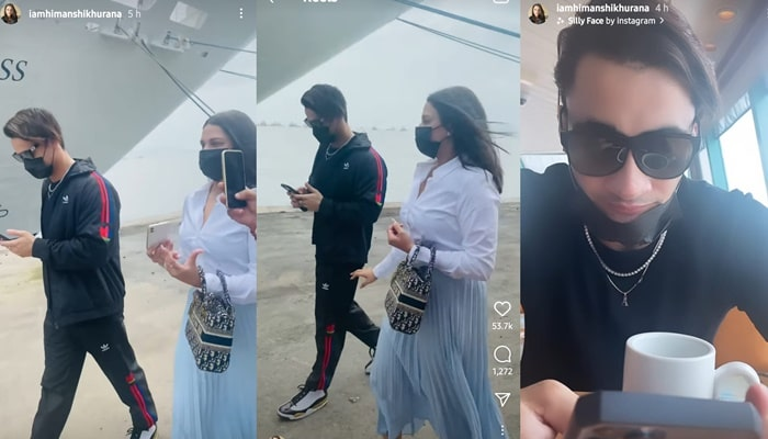 inside image of himanshi khurana and aism riaz seen in luxury ship-min