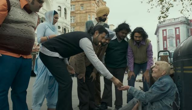 inside image of gippy grewal and his team